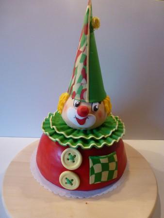 Ein Clown zu Karnevalsparty